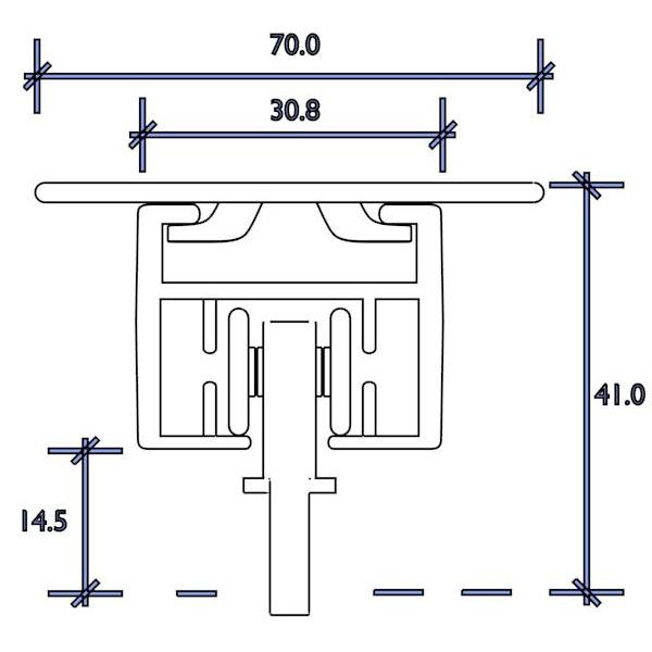 d motor standard 1cm top fix roller runner
