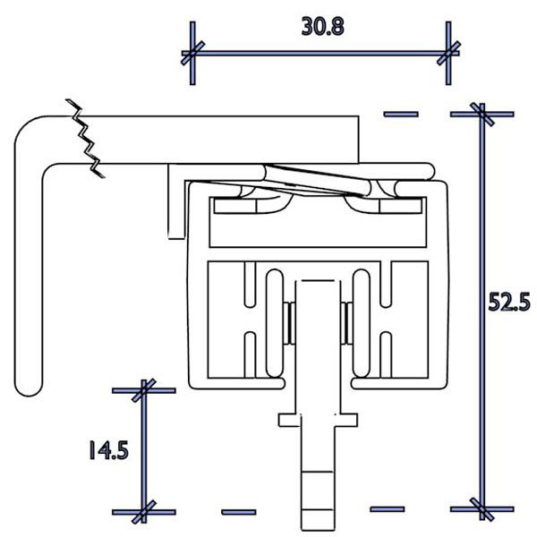 d motor standard 1cm wall fix roller runner